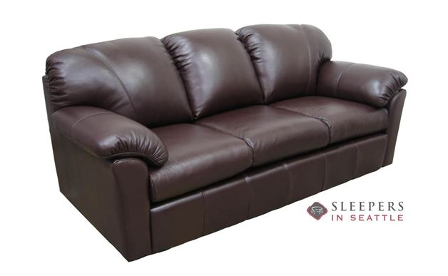 Omnia Tahoe Full Leather Sleeper Sofa