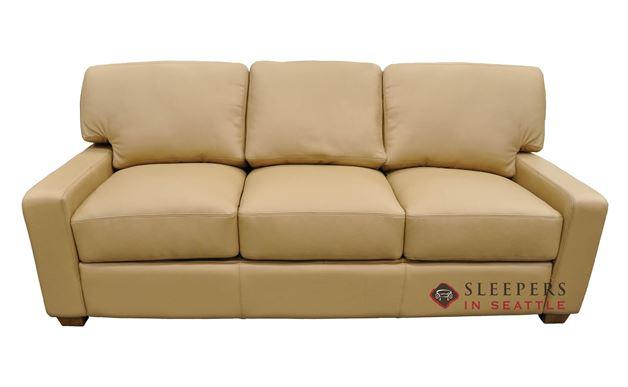 Omnia Albany Queen Leather Sleeper Sofa