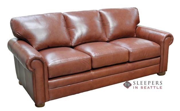 Omnia Georgia Full Leather Sleeper Sofa
