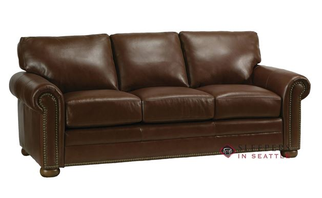 Omnia Athens Queen Leather Sleeper Sofa