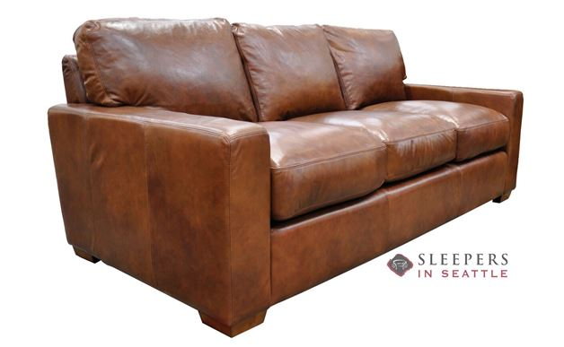 Omnia City Craft Queen Leather Sleeper Sofa