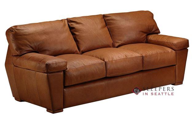 Omnia Prescott Queen Leather Sleeper Sofa