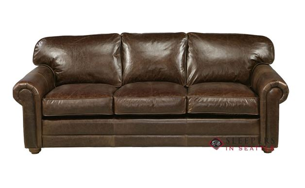 Omnia Dalton Queen Leather Sleeper Sofa