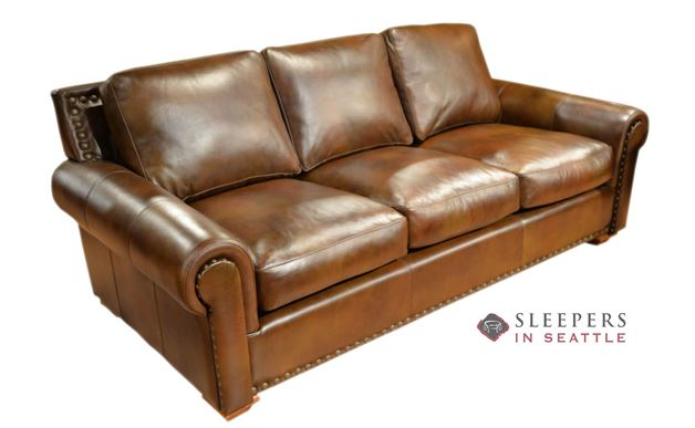 Omnia Monterrey Queen Leather Sleeper Sofa