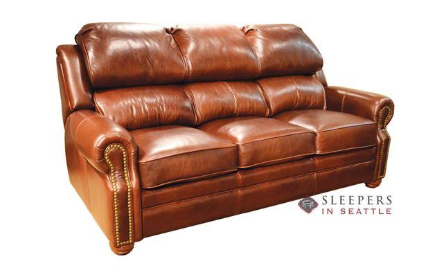 Omnia San Juan Full Leather Sleeper Sofa