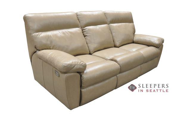 Omnia Vancouver Full Leather Sleeper Sofa
