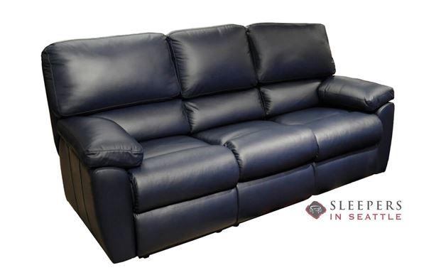 Omnia Vermont Full Leather Sleeper Sofa