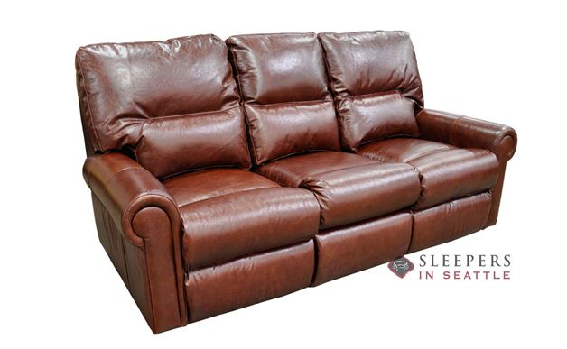 Omnia Robertson Full Leather Sleeper Sofa