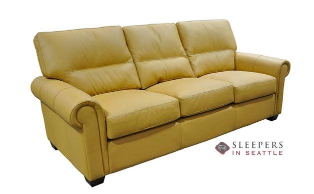 Omnia Regent Full Leather Sleeper Sofa