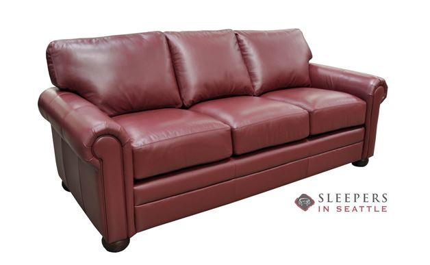 Omnia Alpharetta Queen Leather Sleeper Sofa