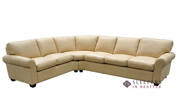 Omnia Dream Maker 101 True Sectional Queen Leather Sleeper Sofa