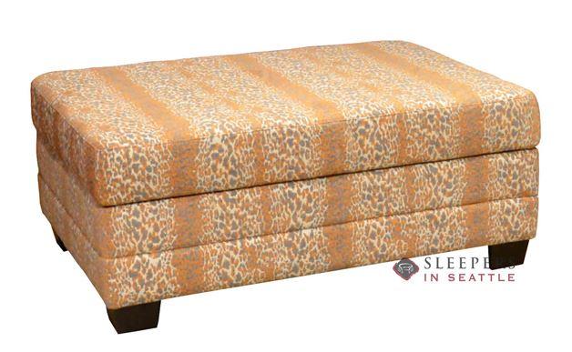 Omnia Dreamsations 107 Ottoman Leather Cot Sleeper Sofa