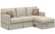 Savvy Jersey Compact Chaise Sectional Sofa with Slipcover