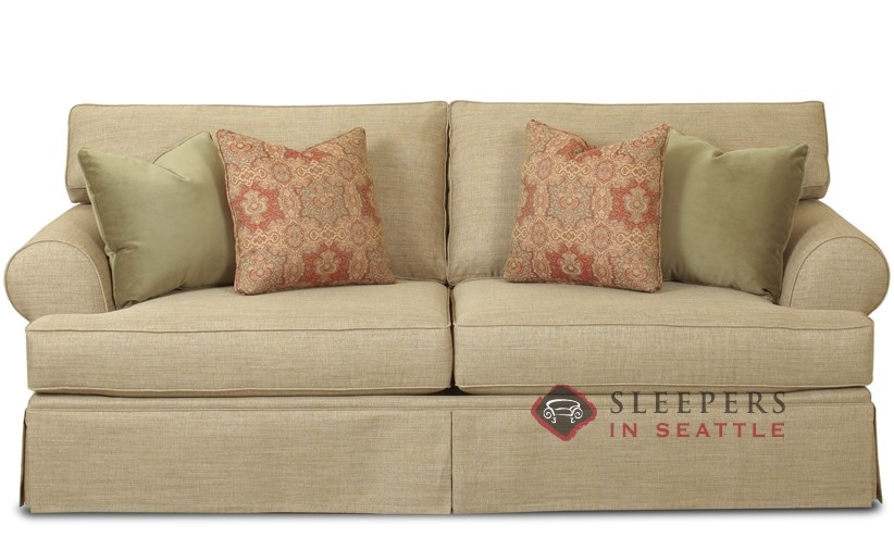 Customize and Personalize New Haven Queen Fabric Sofa by Savvy