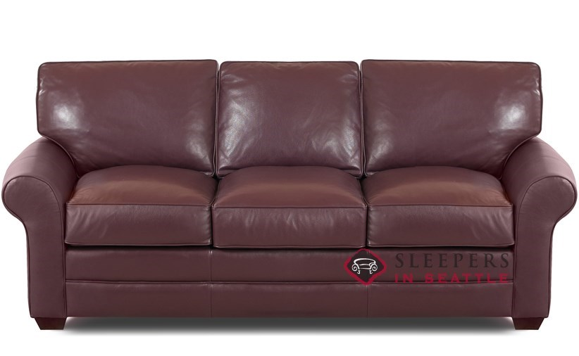 Customize And Personalize Montreal Queen Leather Sofa By