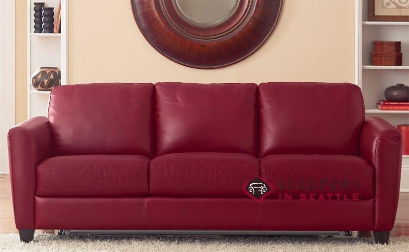 Quick-Ship Liro (B592) Queen Leather Sofa by Natuzzi | Fast Shipping Liro  (B592) Queen Sofa Bed | SleepersInSeattle.com