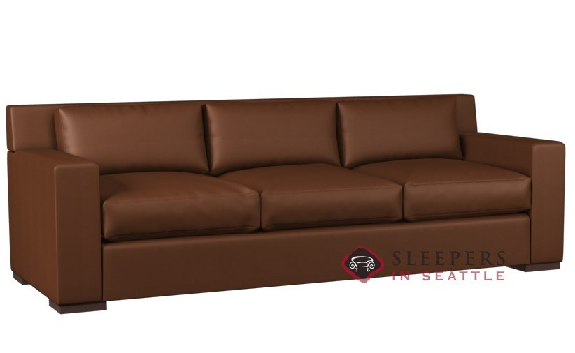 Lazar Industries Corvo 3-Cushion Leather Queen Sleeper Sofa