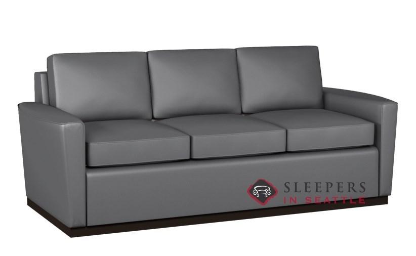 Lazar Industries Harmony 3 Cushion Leather Earth Designs Queen Sleeper Sofa