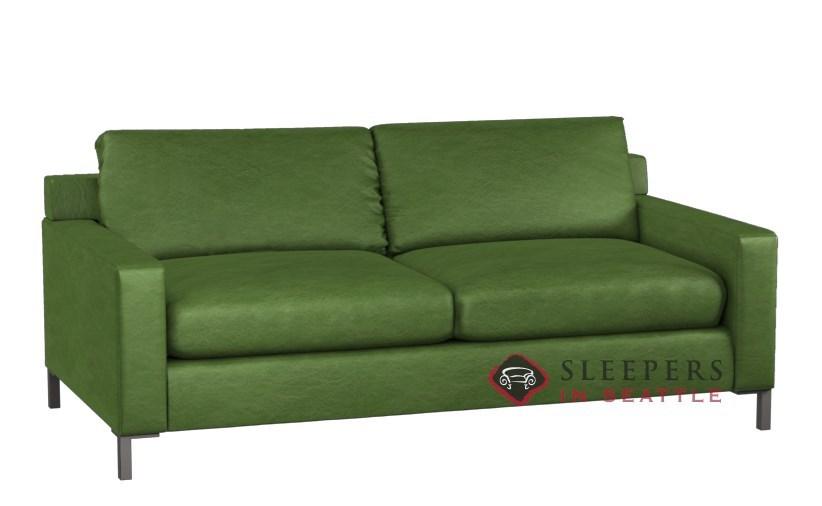 Lazar Industries Soho II Leather 2-Cushion Queen Sleeper Sofa