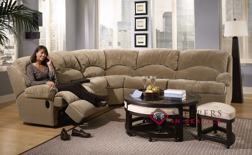 Room With Milan True Sectional Sleeper Recliner