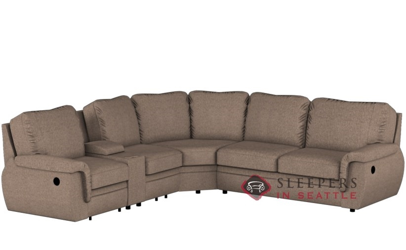 Palliser Brunswick Large Reclining True Sectional Full Sleeper Sofa with  Console--Power Upgrade Available