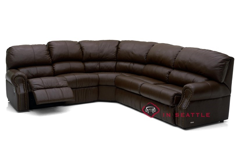 Palliser Charleston Reclining True Sectional Leather Sleeper