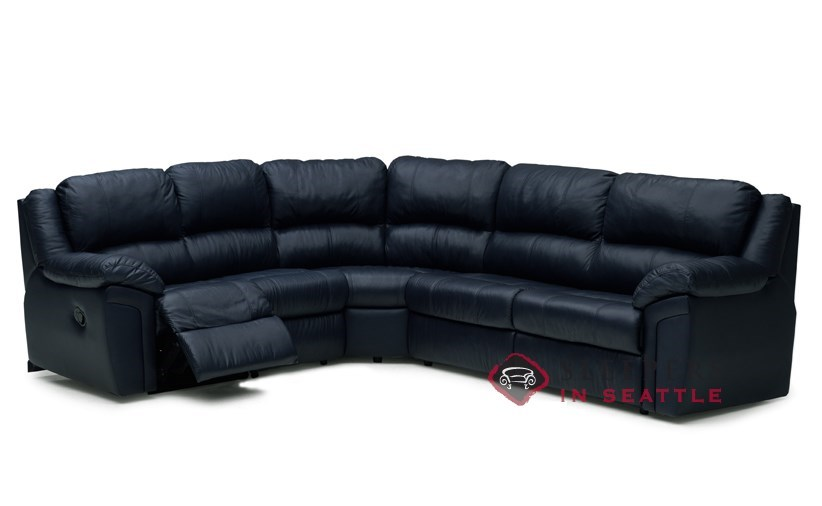 Palliser Daley Reclining True Sectional Top-Grain Leather Full Sleeper  Sofa--Power Upgrade Available