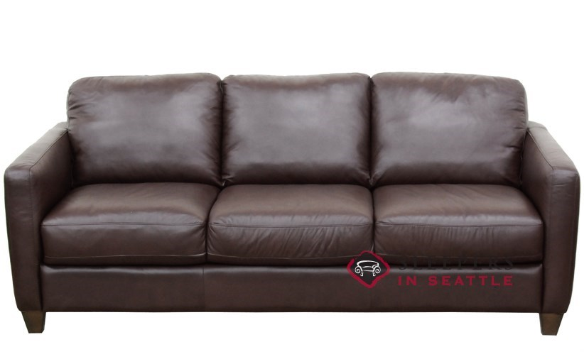 QuickShip Liri B591 Queen Leather Sofa by Natuzzi Fast Shipping