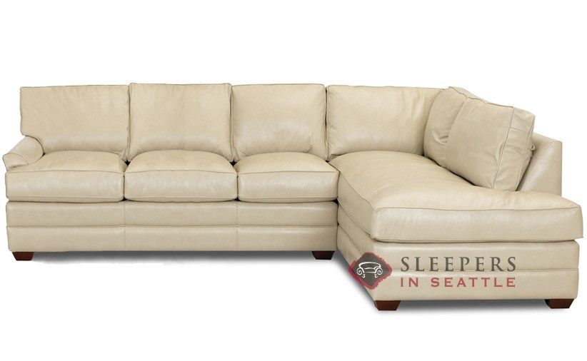 Savvy Gold Coast Leather Chaise Sectional Sleeper shown in Outsider Alabaster  sc 1 st  Sleepers In Seattle : sofa sleeper sectionals - Sectionals, Sofas & Couches