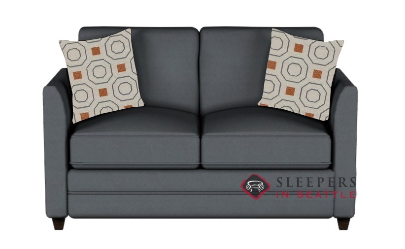 Savvy Valencia Sleeper In Microsuede Charcoal Twin