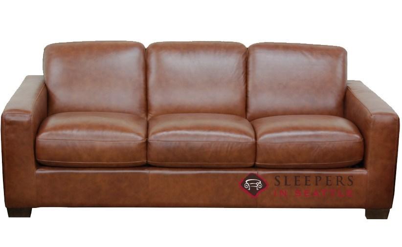 Quick Ship Rubicon B534 Queen Leather Sofa By Natuzzi