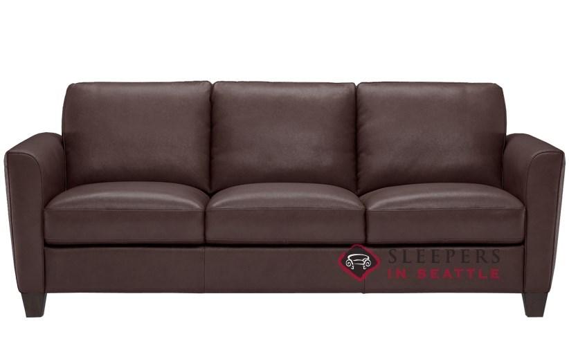 QuickShip Liro B592 Queen Leather Sofa by Natuzzi Fast