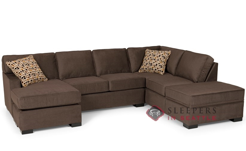 Stanton 146 Dual Chaise Sectional Sleeper Sofa With Storage Queen