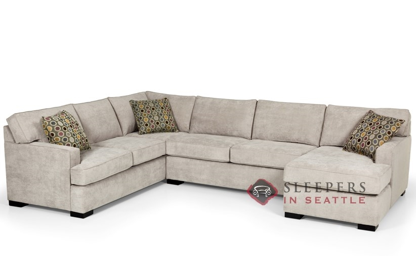 Stanton 146 U Shape True Sectional Sleeper Sofa Queen In Bennett Moon