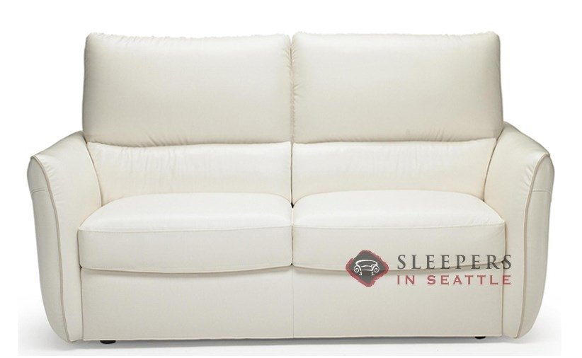 B842 262 Natuzzi Editions Versa Leather Sleeper Sofa Twin