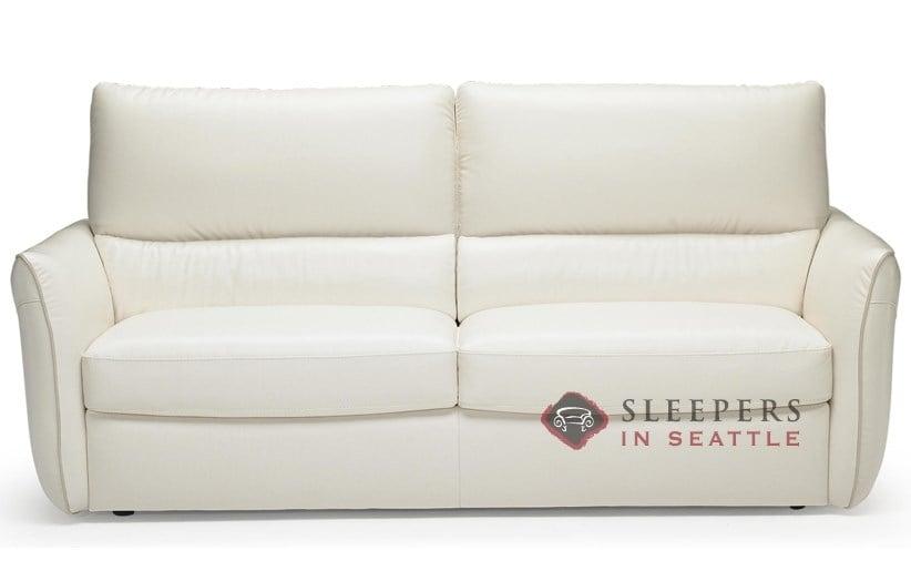 Natuzzi Editions Versa B842 Leather Full Sleeper Sofa With Greenplus Foam Mattress