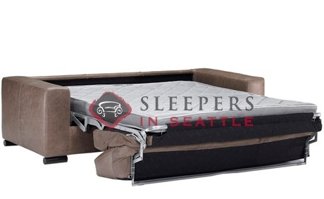 Customize And Personalize Rubicon B Queen Leather Sofa By - Leather sofa sleeper queen