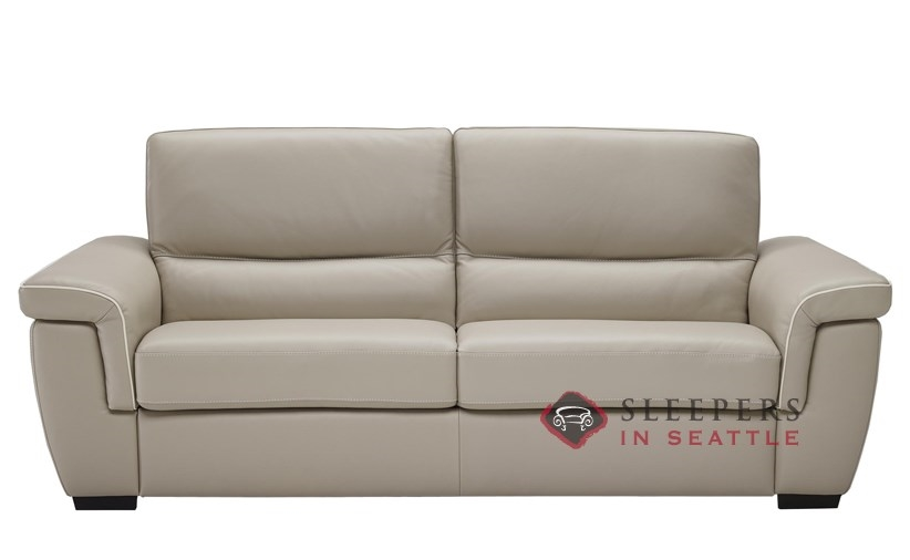 B933 264 Natuzzi Editions Cesano Leather Sleeper Sofa Full