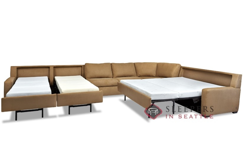 Open View Of American Leather S Large Lyons Comfort Sleeper Sectional