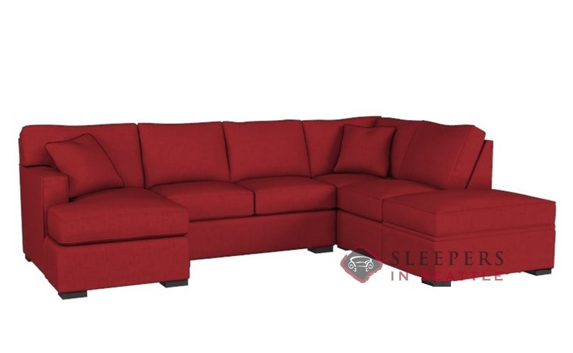 Customize and Personalize 146 Chaise Sectional Fabric Sofa by