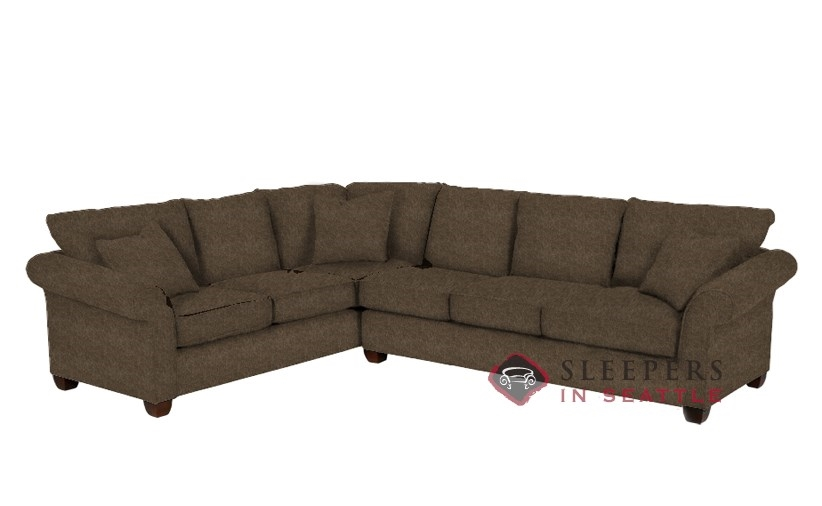 664 True Sectional Sleeper In Cornell Cocoa Queen