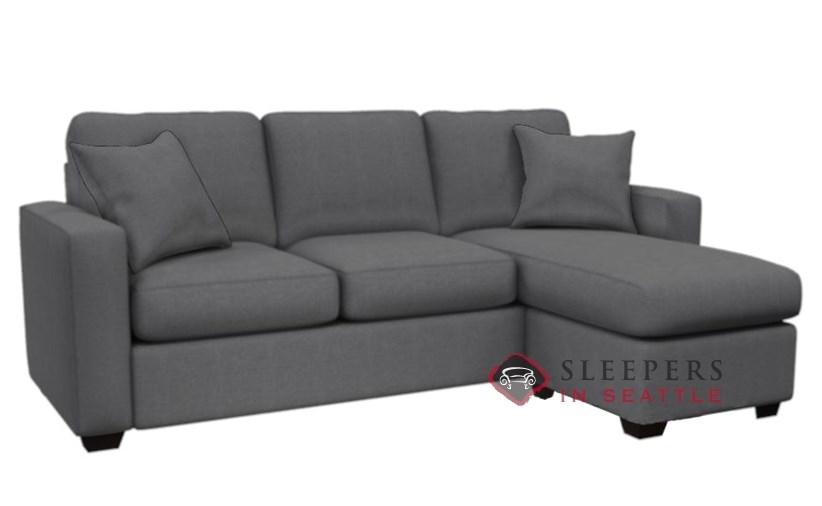 ... Stanton 702 Chaise Sectional Sleeper Sofa In Hayden Marmor (Queen) ...
