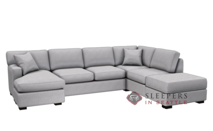 ... Stanton 146 Dual Chaise Sectional Sleeper Sofa With Storage In Bennett  Moon (Queen) ...