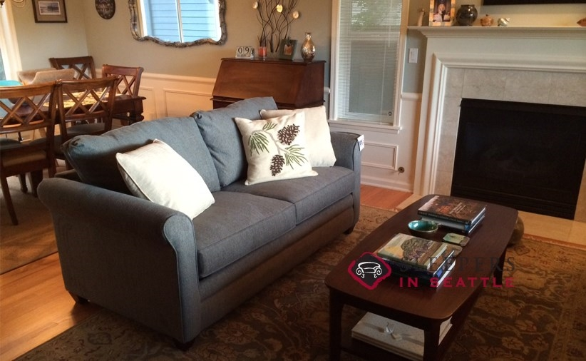 Customize and Personalize Denver Queen Fabric Sofa by Savvy Queen