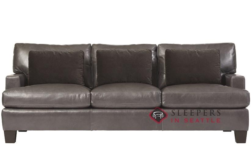 Bernhardt Interiors Denton Leather Queen Sleeper