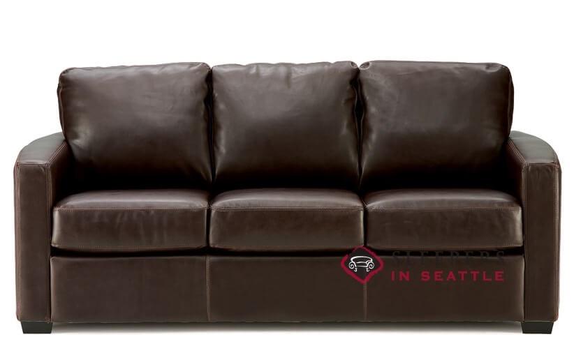 Palliser Carlten Top-Grain Leather Full Sleeper Sofa