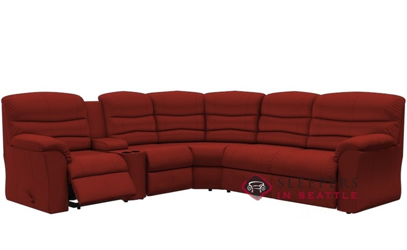 Palliser Durant Large Reclining True Sectional Sleeper With Console