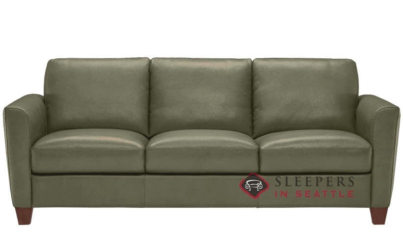 Quick Ship Liro B592 Queen Leather Sofa by Natuzzi
