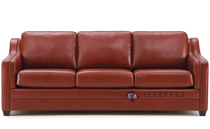 Palliser Corissa Top-Grain Leather Queen Sleeper Sofa