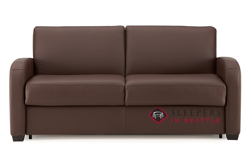 Palliser My Comfort Daydream Top-Grain Leather Full Sleeper Sofa with  Serta\'s Gel-Memory Foam Mattress